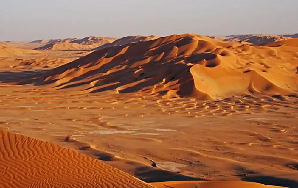 Fotografía de un desierto.