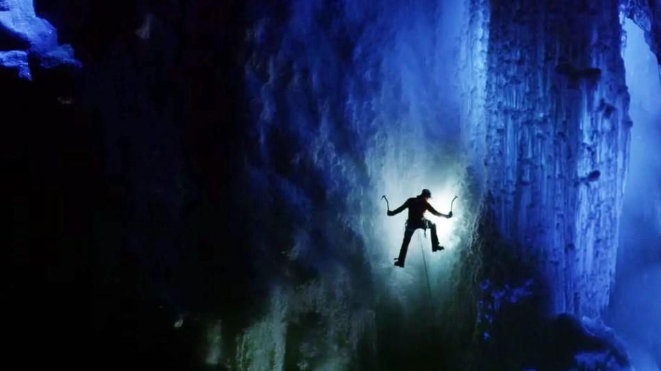 Fotografía de la expedición a las cavernas de hielo en Groenlandia.