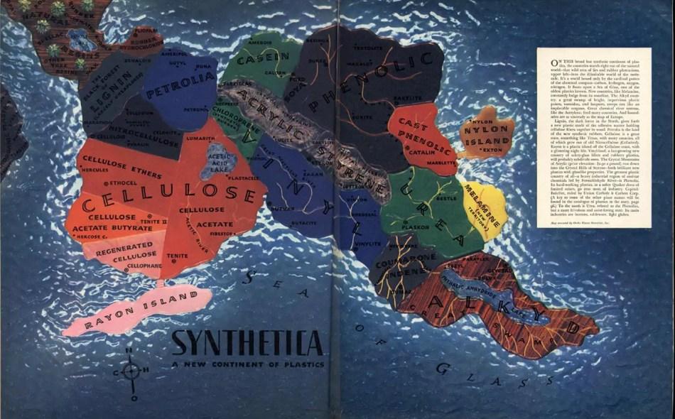 Imagen de un mapa de un continente imaginario.