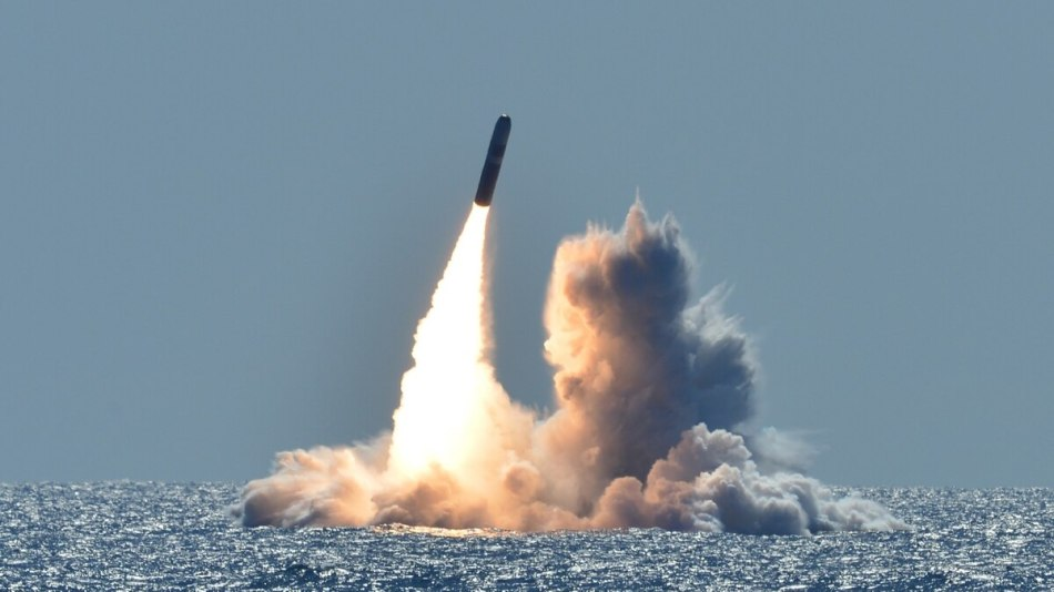 Fotografía de un misil Misil Trident II.