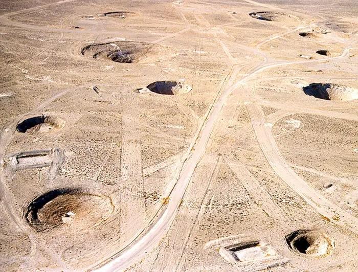 Viusta desde el aire del Nevada Test Site