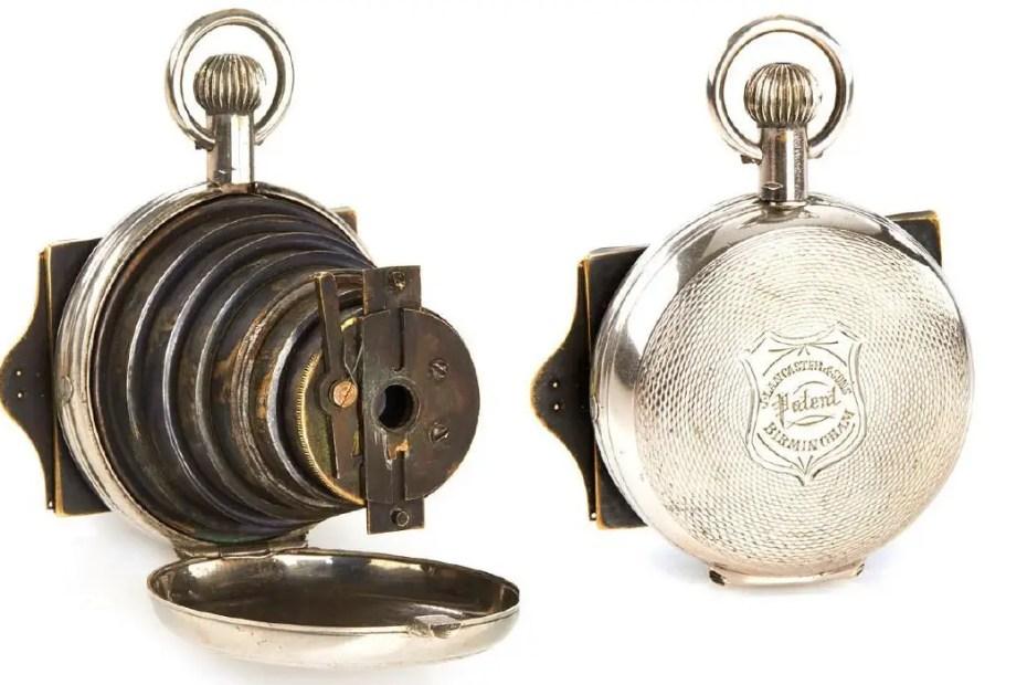 Fotografía del reloj espía victoriano.