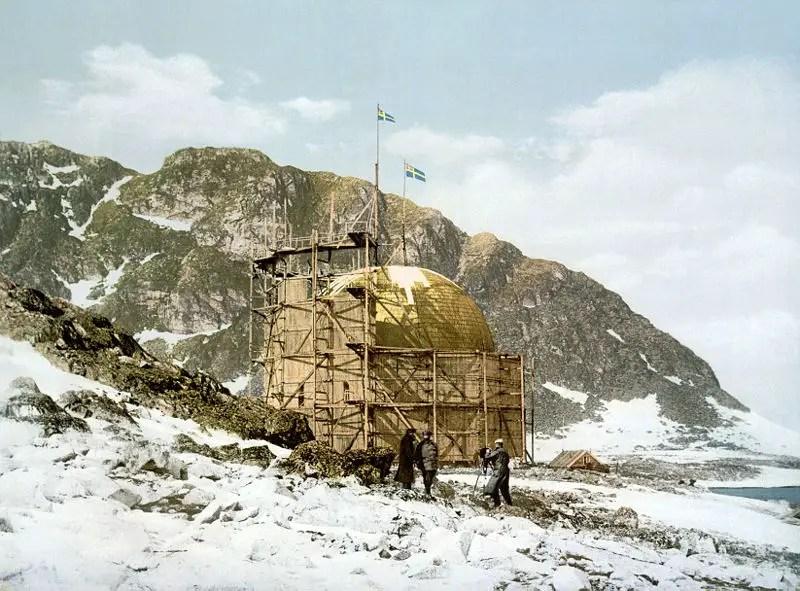 La estación del ártico Spitsbergen.