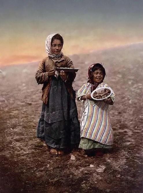 Niñas en Jerusalem a finales del siglo XIX