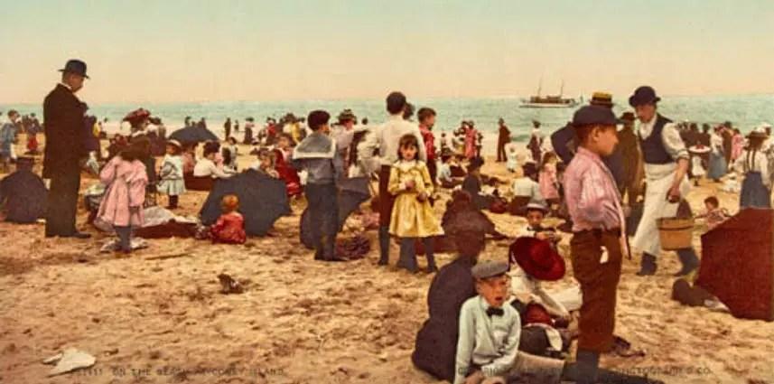 Día de playa en Coney Island, 1902