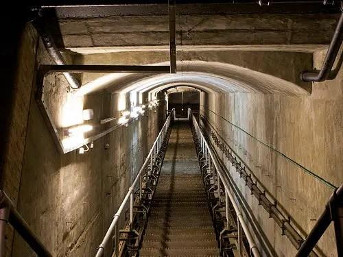 Fotografía del interior del Burlington búnker.