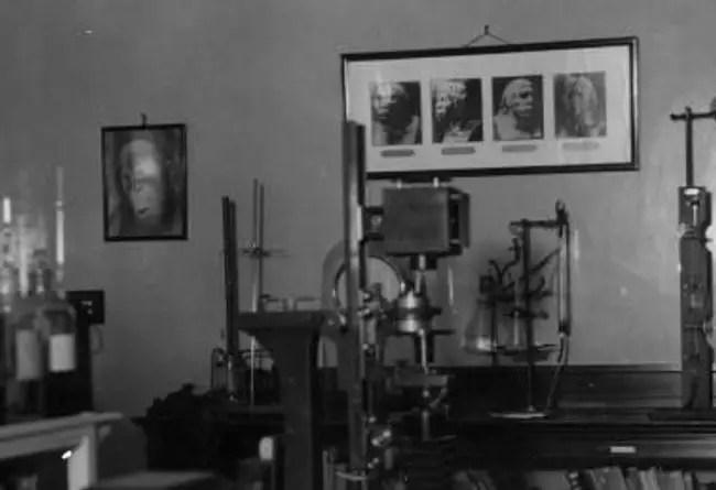 Fotografía del Laboratorio del Dr. Voronoff, el arquetipo del científico loco.