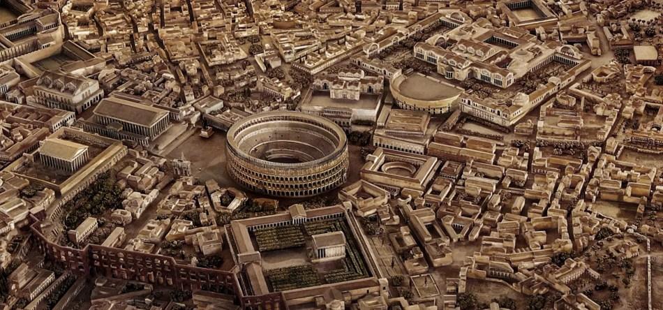 Fotografíia de una maaqueta de Roma.