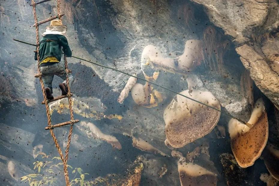 Fotografía de trabajadores en Lamjung.