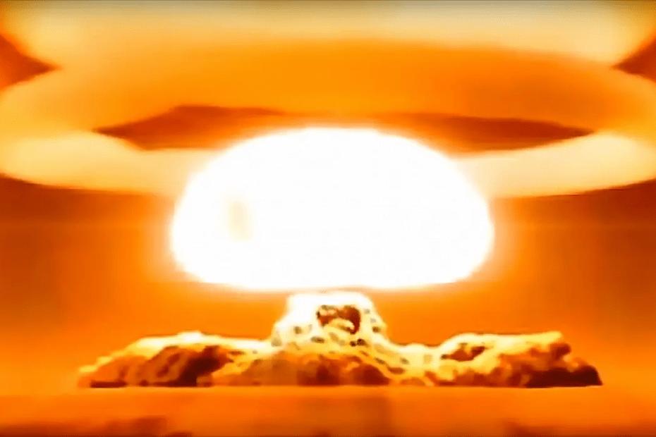 Fotografía de una explosión nuclear.