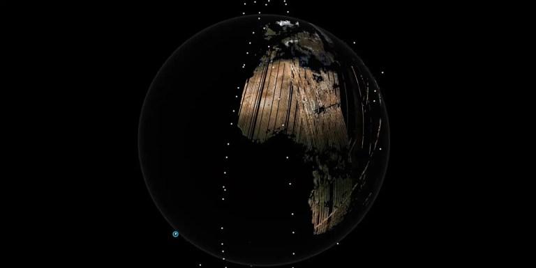 Cómo tomar una imagen total de la superficie terrestre a diario