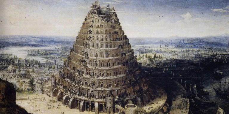 Ilustración de la Torre de Babel.