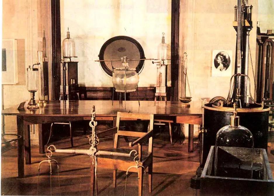 Fotografía del laboratorio de Lavoisier.