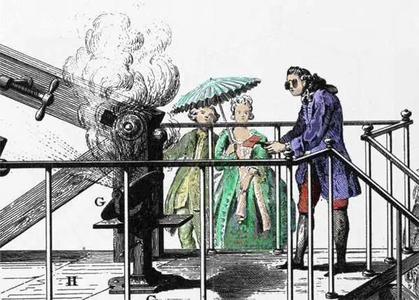 Ilustración de Lavoisier y su experimento.