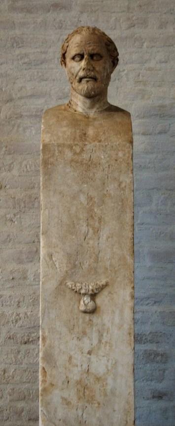 Fotografía de la herma de Demóstenes.