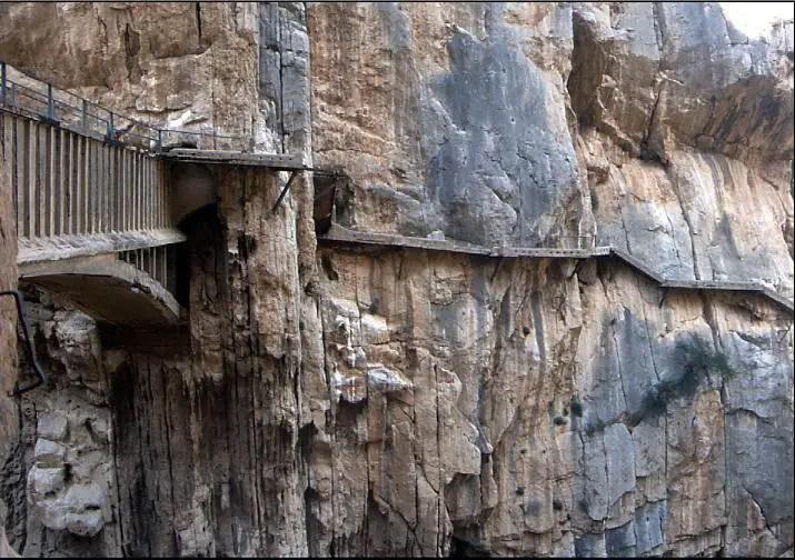 Fotografía de los caminos del Caminito del Rey.