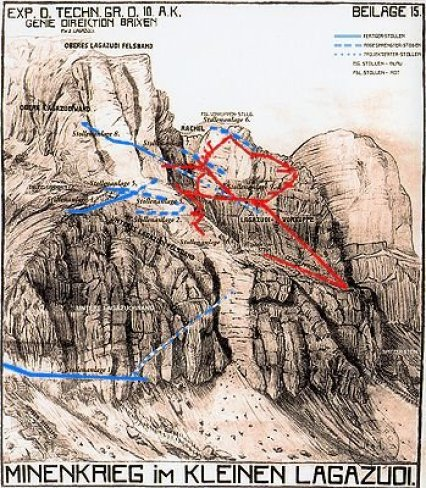Mapa de Lagazuoi.