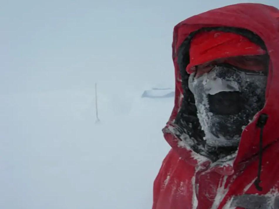 Fotografía de una tormenta antártica.
