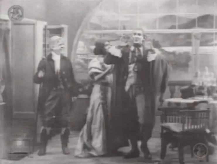 Captura de una es las escenas del Frankenstein de Edison.