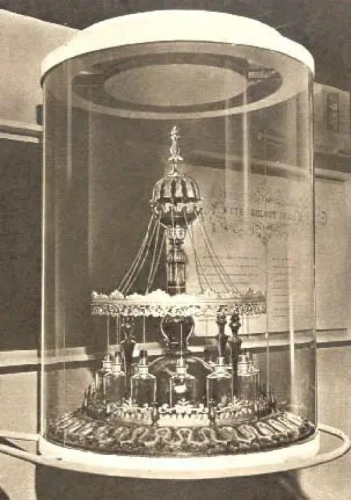 Fotografía antigua del barómetro viviente.