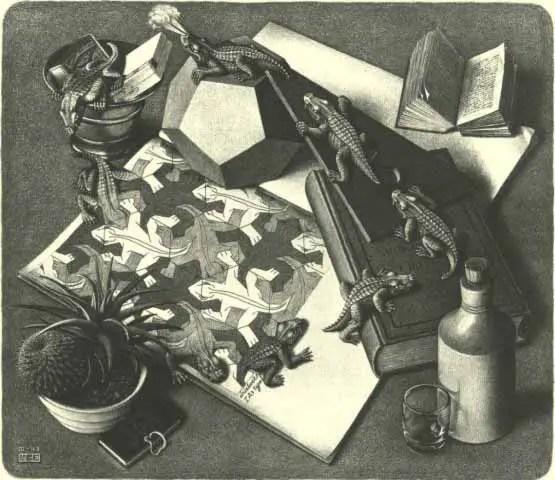 Reptiles, obra de Maurits Escher.