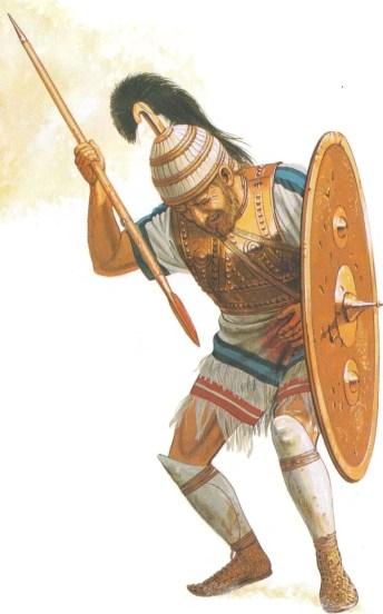 Ilustración de Odiseo herido.