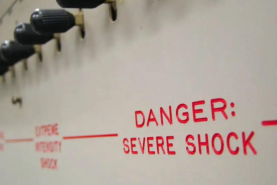Fotografía de la máquina de Milgram