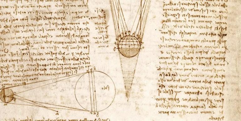 Códice de Leonardo da Vinci.
