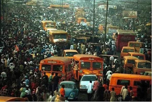 Fotografía de la ciudad sobrepoblada de Lagos.
