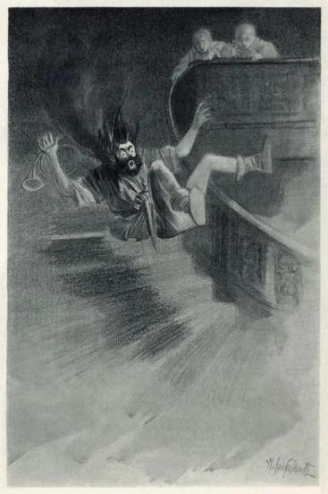 Ilustración del Fantasma de canterville.
