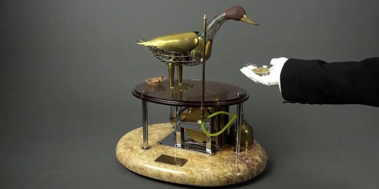 El pato robot de Jacques de Vaucanson, el robot que podía comer