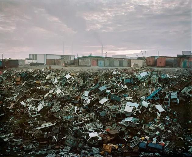 Fotografía de la ciudad de Norilisk y su contaminación.