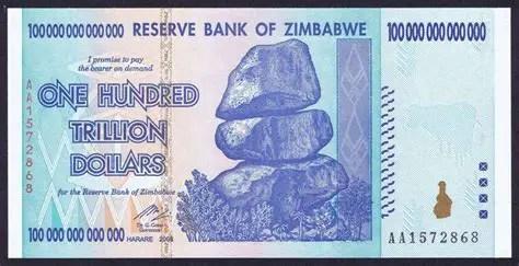 Cien trillones de dólares de Zimbabue, el billete que sufrió la mayor inflación en la Historia.