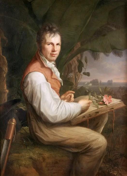 Pintura del naturalista e ilustrador Alexander Von Humboldt.