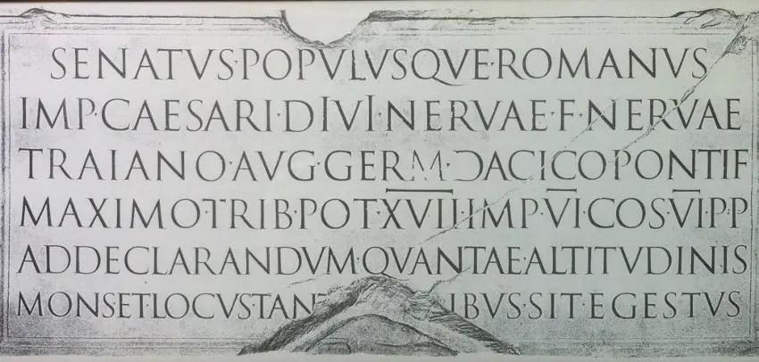 Imagen de un texto romano.