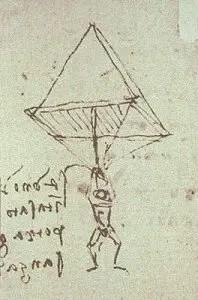 Paracaídas de Leonardo da Vinci.