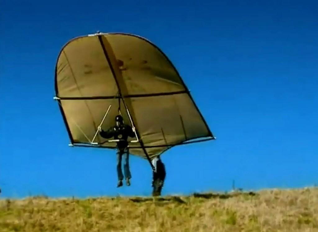 Fotografía de la prueba del planeador de da Vinci.