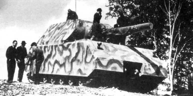 Fotografía de un Infografía de un Panzerkampfwagen VIII Maus.