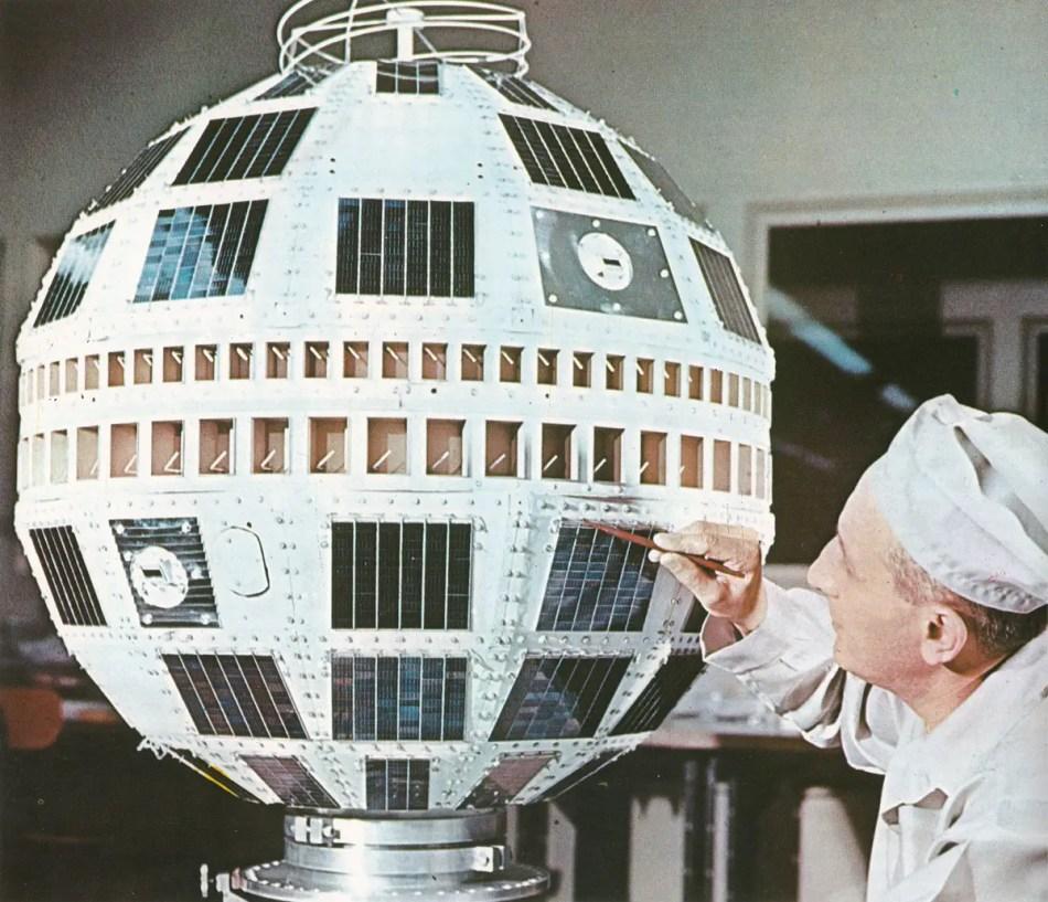 Fotografía del satélite Telstar 1.