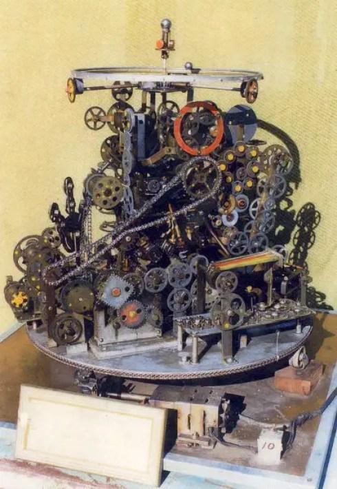 Fotografía de la máquina de no hacer nada.