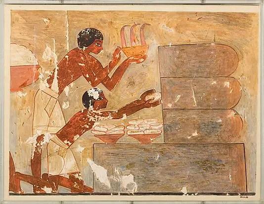 Relieve en la tumba de Rekhmire, la historia de la miel.