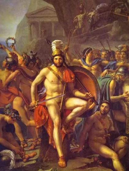 Pintura de Leonidas el rey Espartano.
