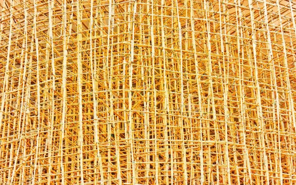 Andamios de bambú.