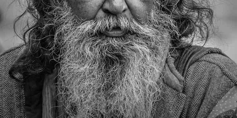 Fotografía del detalle de una barba.