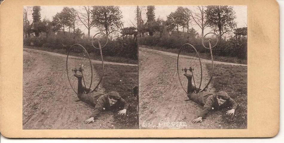 Accidente en un biciclo.