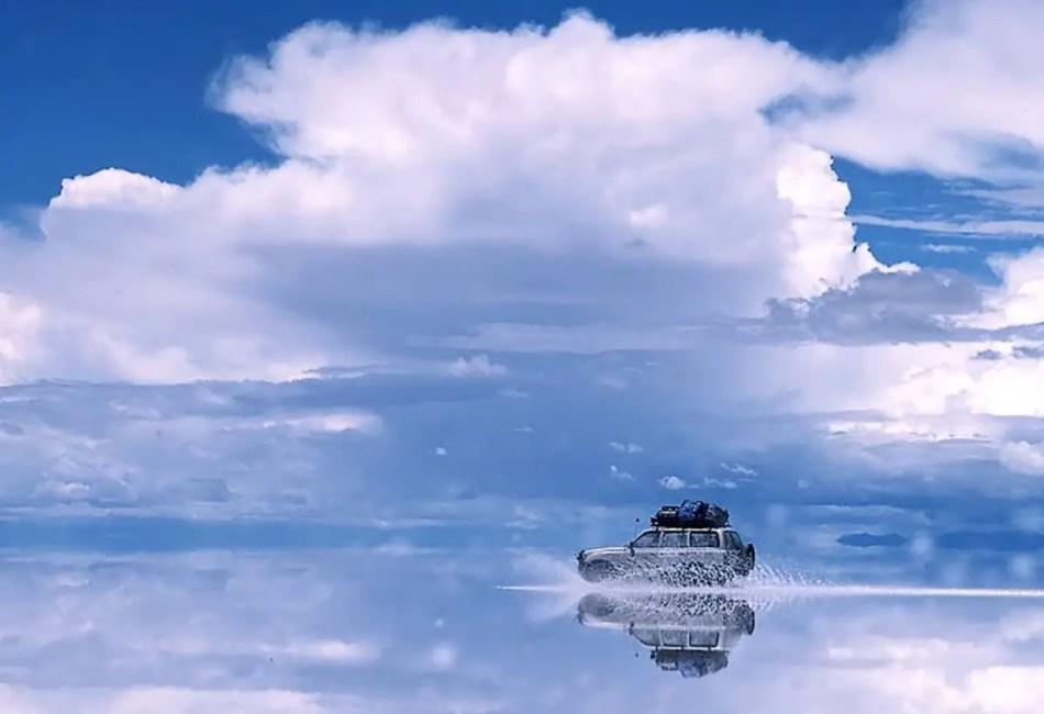 Fotografía del salar de Uyuni.
