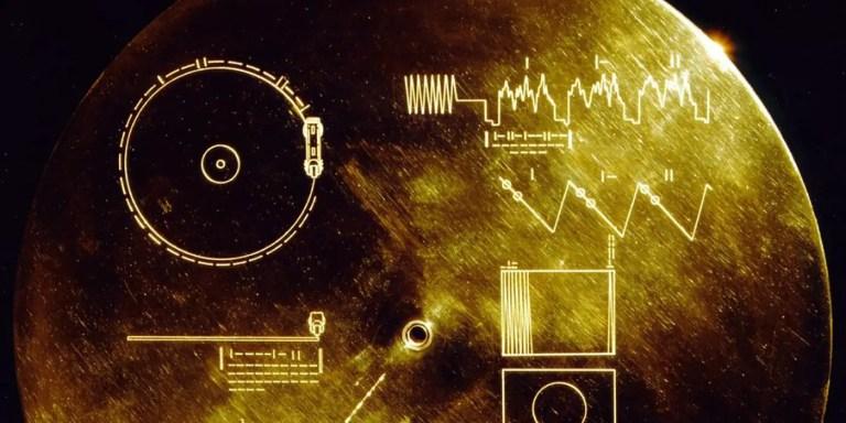 Disco dorado de la Voyager.