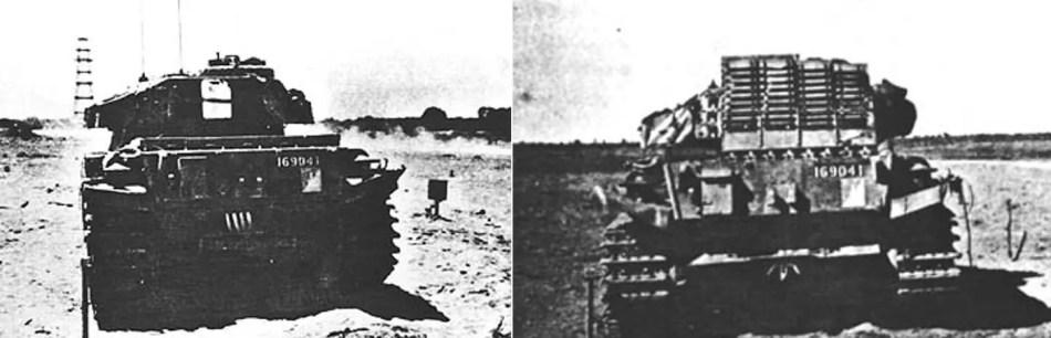 Antes y después del tanque 169041.