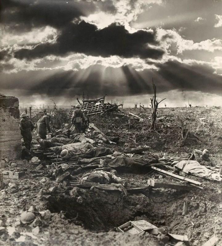 Fotografía de Passchendaele, imagen de la Primera Guerra Mundial.