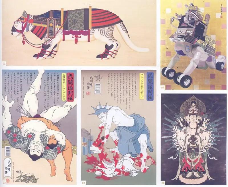 Ejemplos varios de Neo-Nihonga desarrollado por Tenmyouya Hisashi.